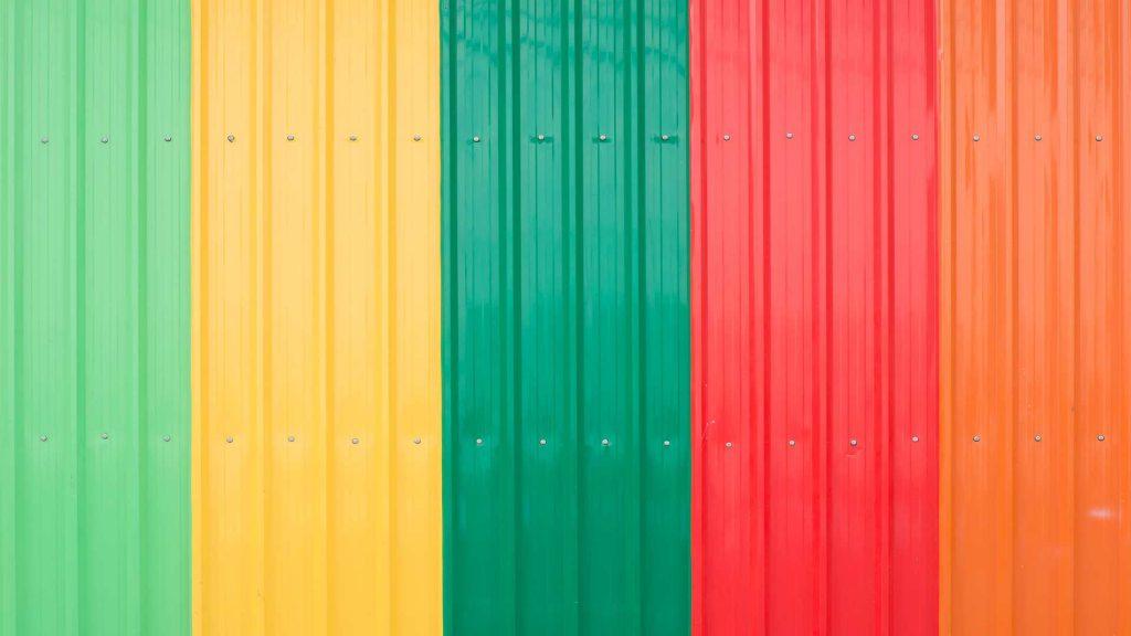 telhas metálicas coloridas