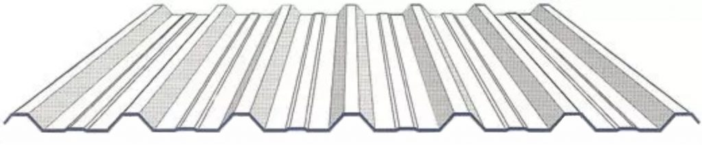tipos de telhas metálicas trapezoidal