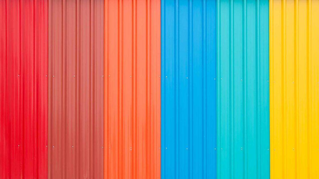 Estrutura para telhado telas coloridas