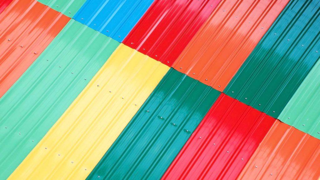 telhas coloridas