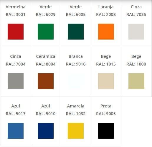 quais as cores de tinta para telhado
