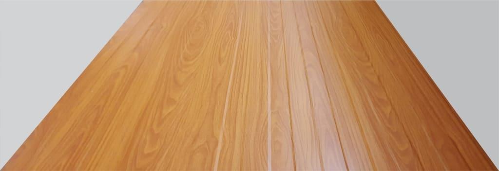 telha com efeito madeira